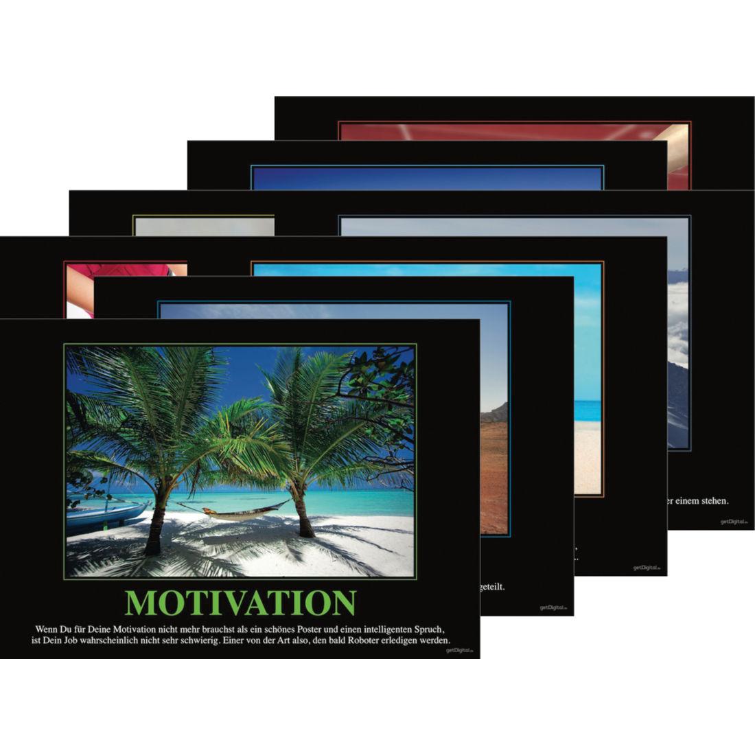 de motivations poster 7er set g nstig bestellen auf viral. Black Bedroom Furniture Sets. Home Design Ideas