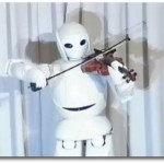 Ein Violine spielender Roboter